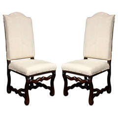 Pair of French walnut chairs, c. 1720