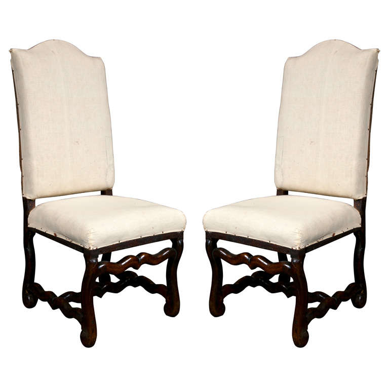 Pair of French Walnut Chairs, circa 1720 1