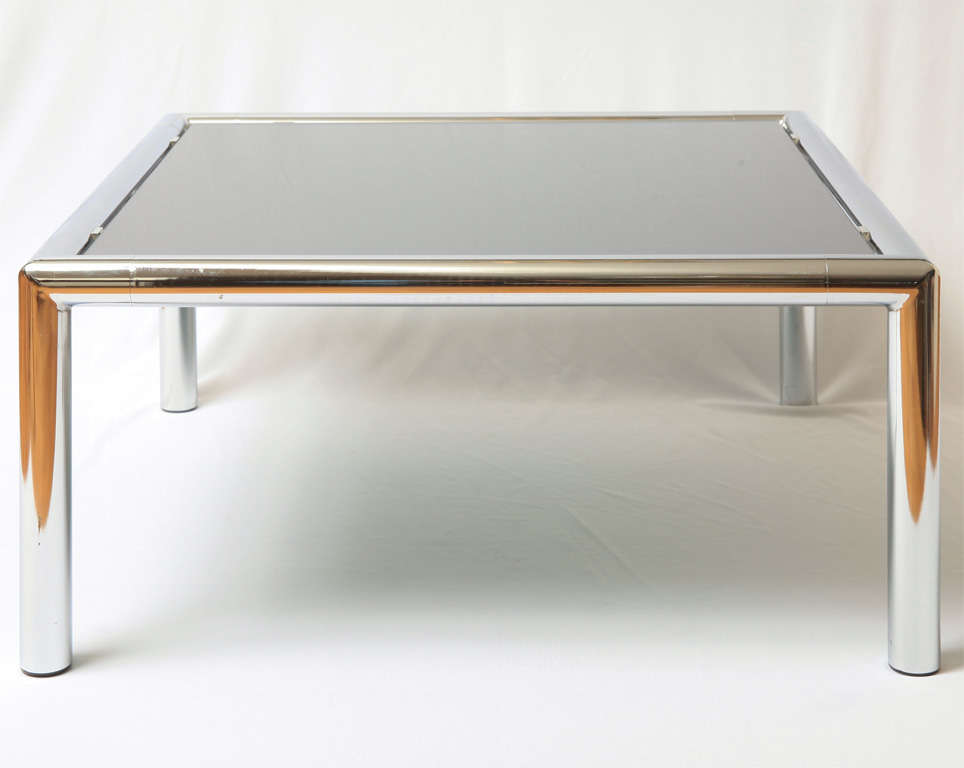 French Chrome Plated Coffee Table For Sale At 1stdibs