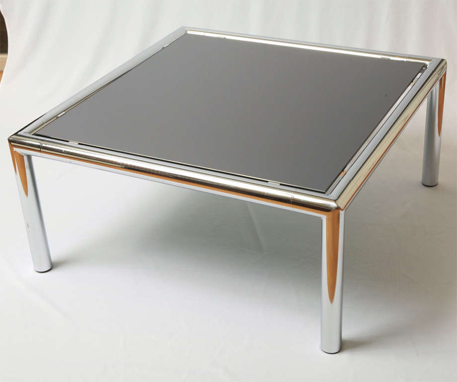 Chrome Coffee Table Items: French Chrome Plated Coffee Table For Sale At 1stdibs