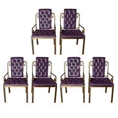 Set of six Mastercraft Greek Key chairs