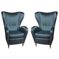 Stunning Pair of Italian Wingchairs