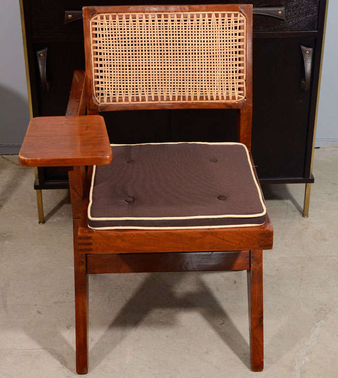 Desk Chair by Pierre Jeanneret for Punjab University For Sale 1