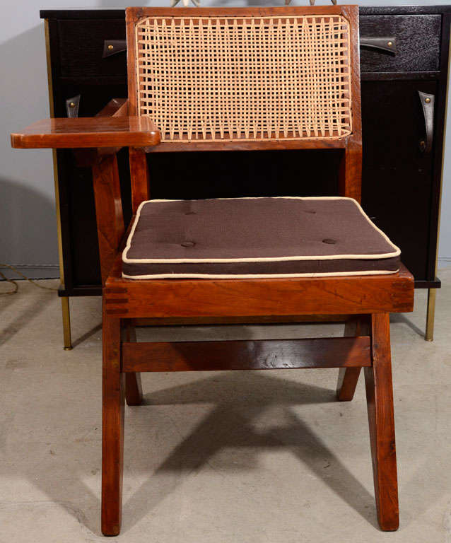 Desk Chair by Pierre Jeanneret for Punjab University For Sale 2