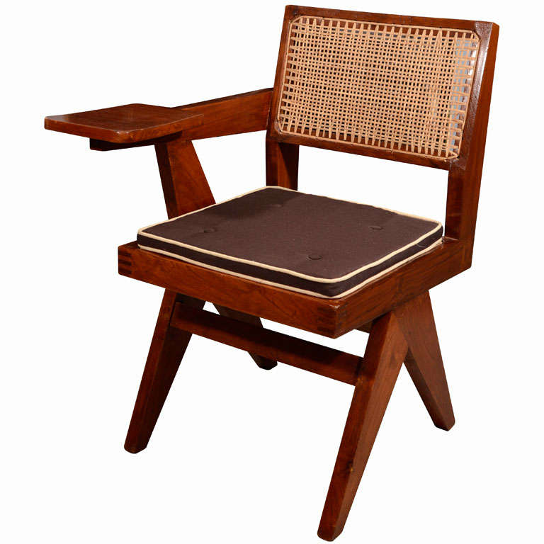 Desk Chair by Pierre Jeanneret for Punjab University For Sale
