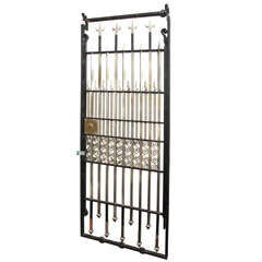 1920s American Modernist Art Deco Architectural Gate