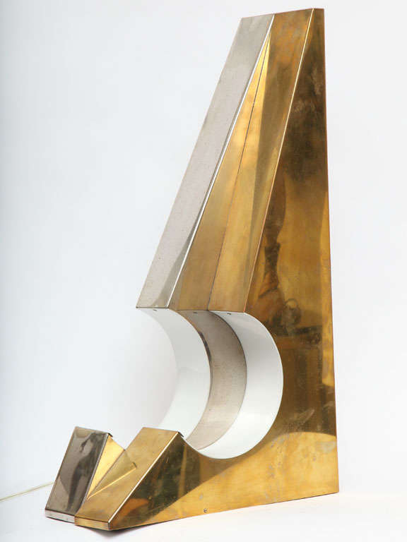 A 1960s Italian Futurist table lamp.