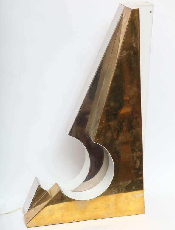 Mid-20th Century 1960s Italian Futurist Table Lamp For Sale