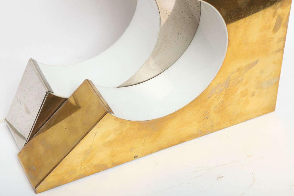 Brass 1960s Italian Futurist Table Lamp For Sale
