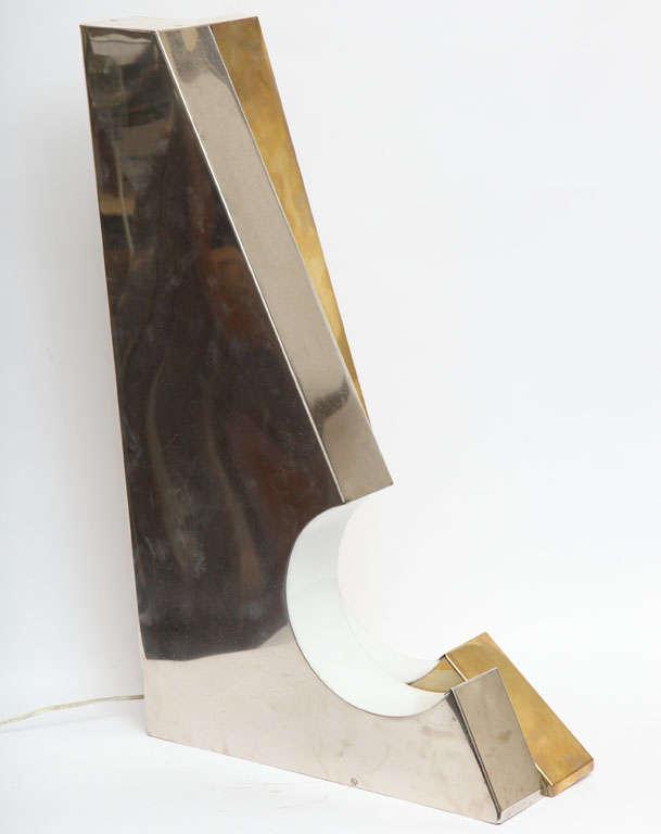 1960s Italian Futurist Table Lamp For Sale 2
