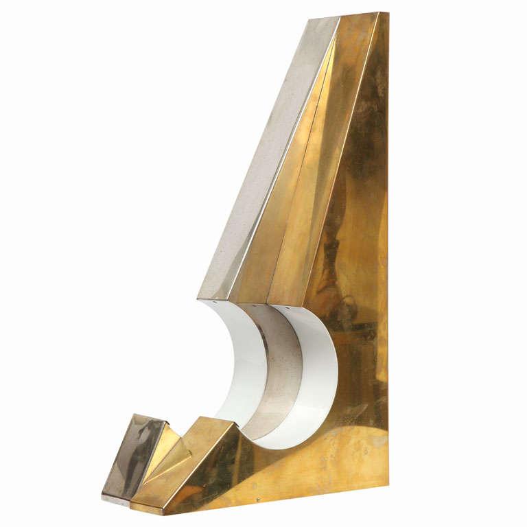 1960s Italian Futurist Table Lamp For Sale