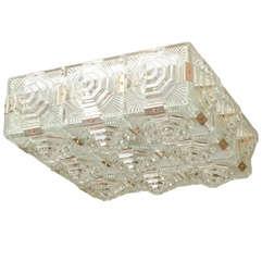 Facet Cut-Glass Tile Ceiling Fixtures by Kalmar