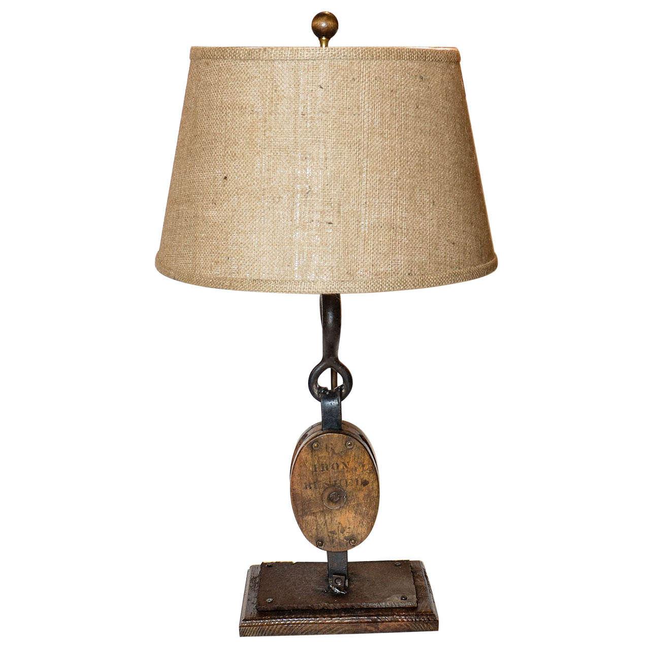 Block and Tackle Lamp at 1stdibs