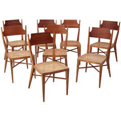 Set of 8 Mid-Century Caned Chairs by Paul McCobb for Calvin