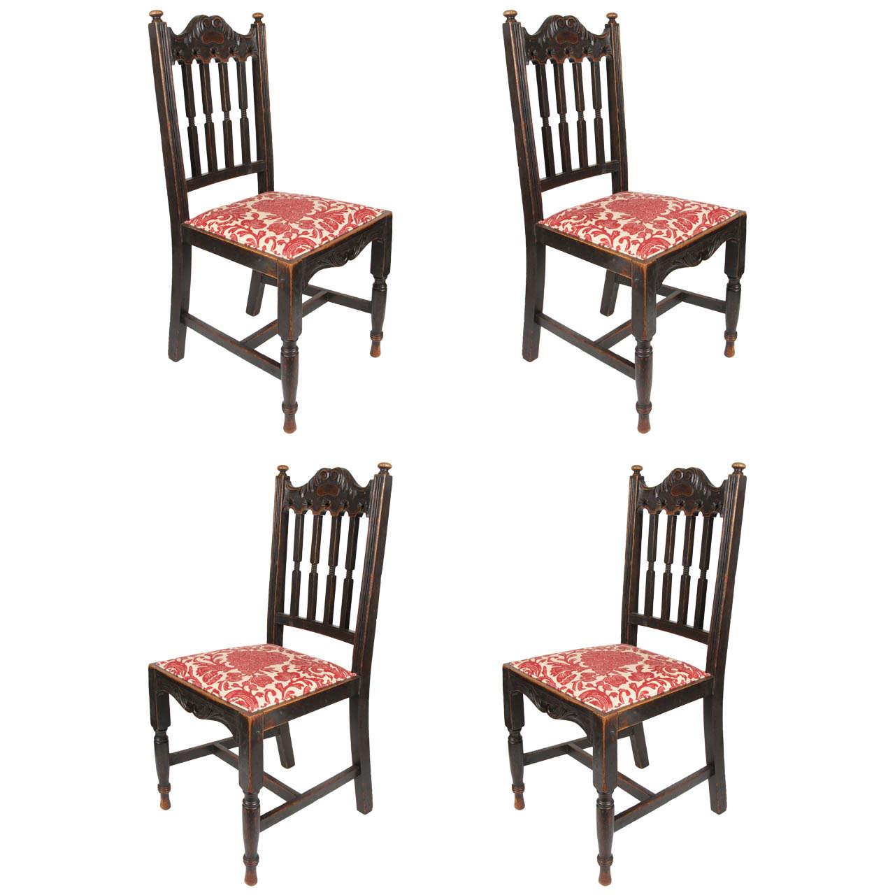 set of four antique oak chairs for sale at 1stdibs