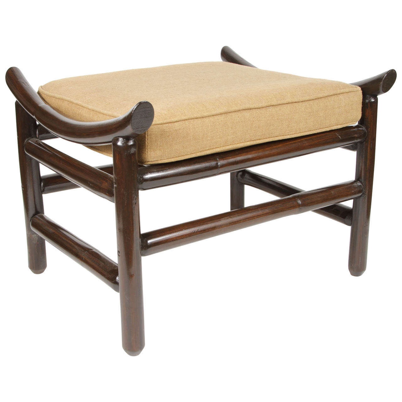 Rattan Foot Stool At 1stdibs