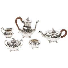 Five Piece Silver Plate English Tea Set