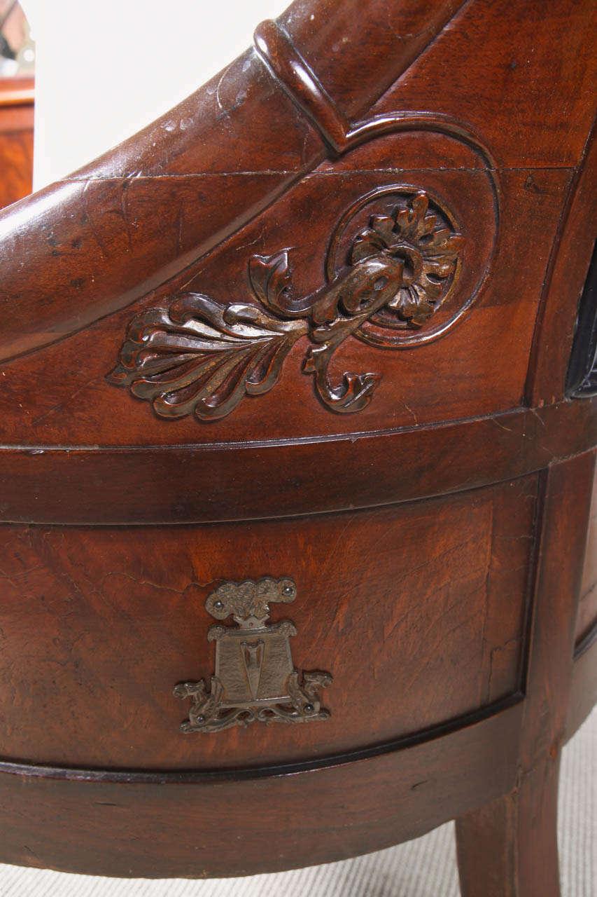 Empire Mahogany Armchair For Sale 3