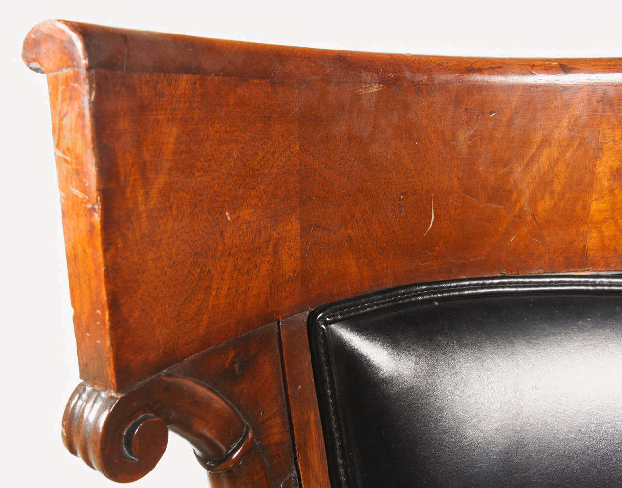 Empire Mahogany Armchair For Sale 4