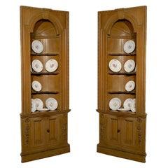 Pair of Pine Georgian Corner Cupboards Circa 1770
