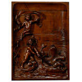 Early 19th Century French Carved Panel Depicting Cherubs