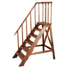 Late 19th Century Mahogany Library Ladder
