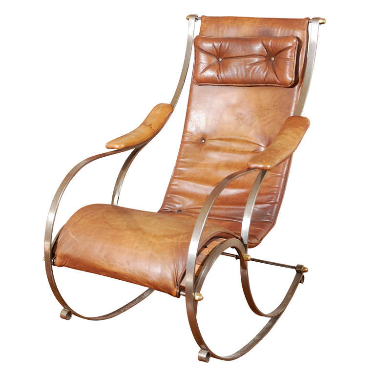 Marvelous Modern French Rocking Chair For Sale
