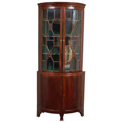 English Mahogany cabinet, Corner Secretary