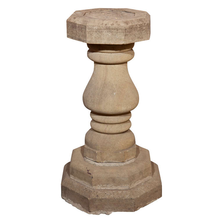 Carved Stone Base : English octagonal carved stone table base at stdibs