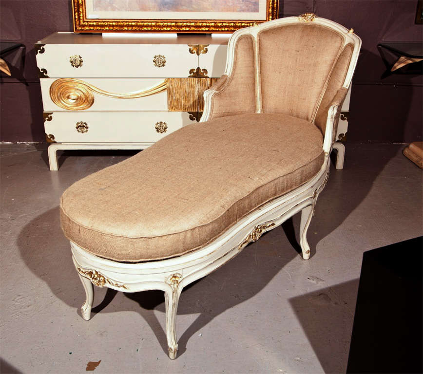 French louis xv style painted chaise at 1stdibs for Chaises louis xv cannees