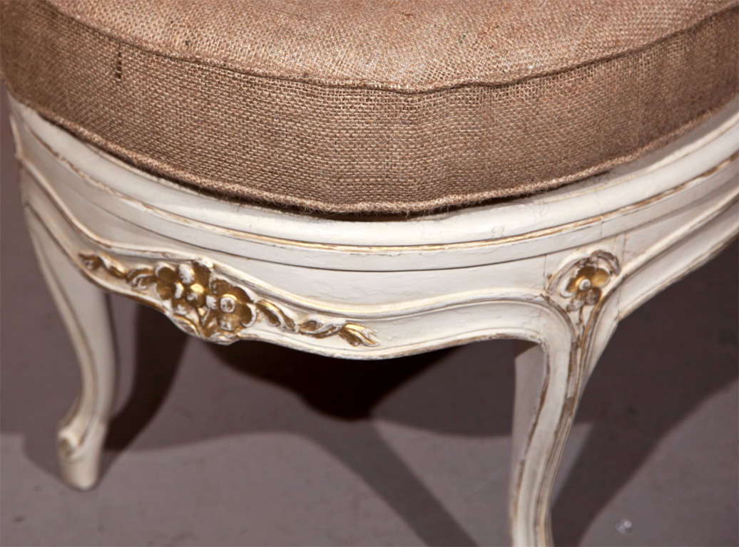 louis xv style painted chaise for sale at 1stdibs