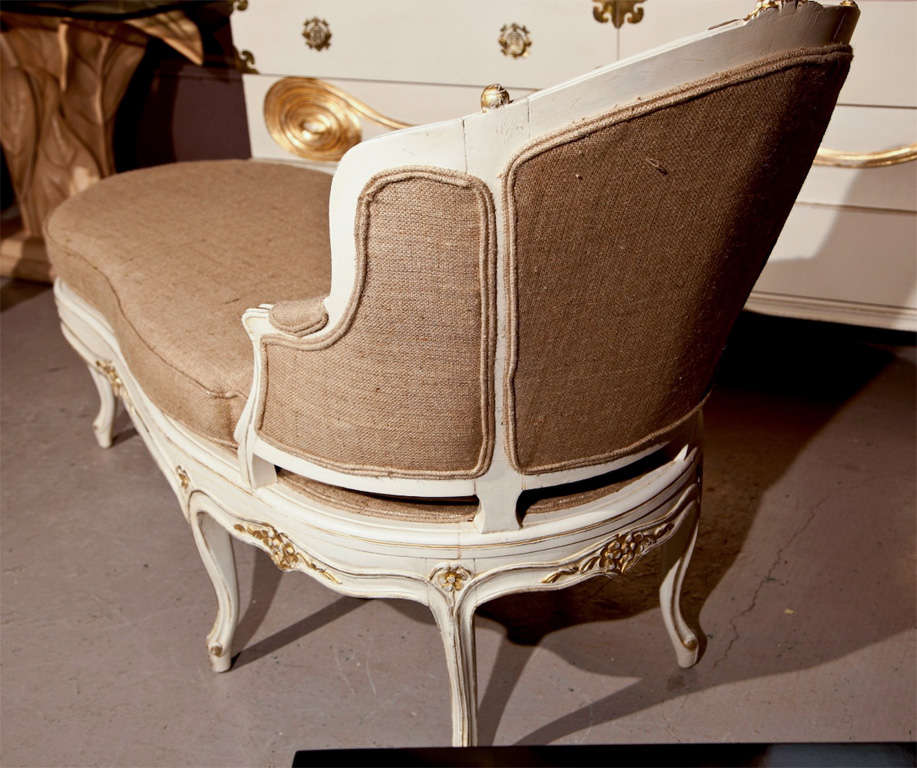 French louis xv style painted chaise for sale at 1stdibs for Chaise louis xv