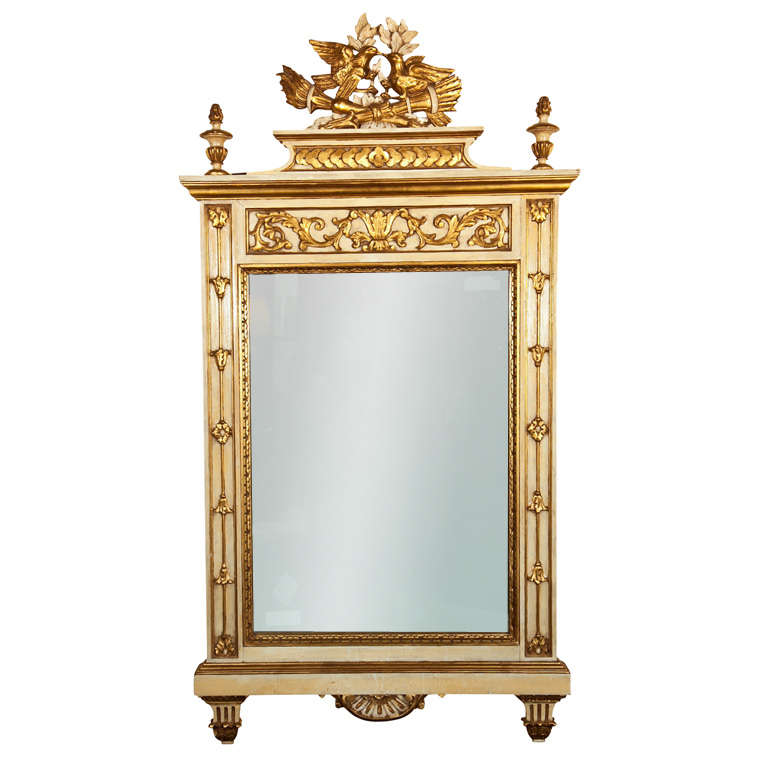 Italian Neoclassical Style Painted Mirror at 1stdibs