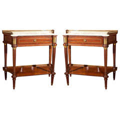 Pair of French Louis XVI Style End Tables Maison Jansen