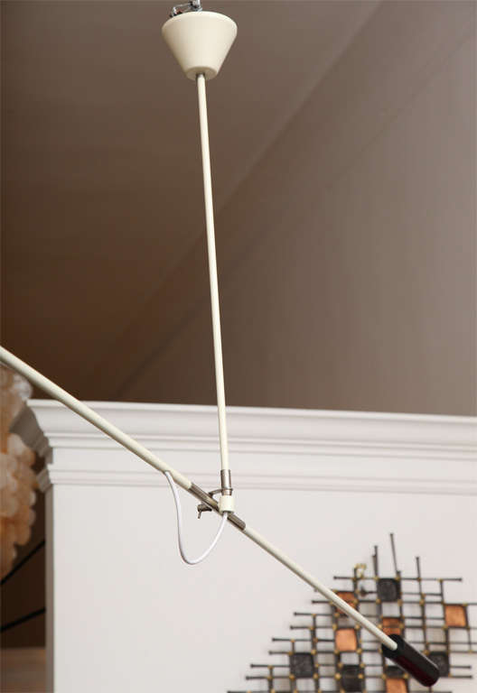 1950s Articulated Ceiling Fixture by J. J. M. Hoogervorst For Sale 3
