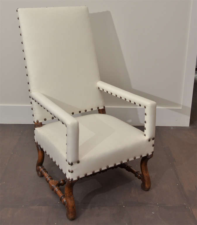 High Back Arm Chair With Slipcover At 1stdibs