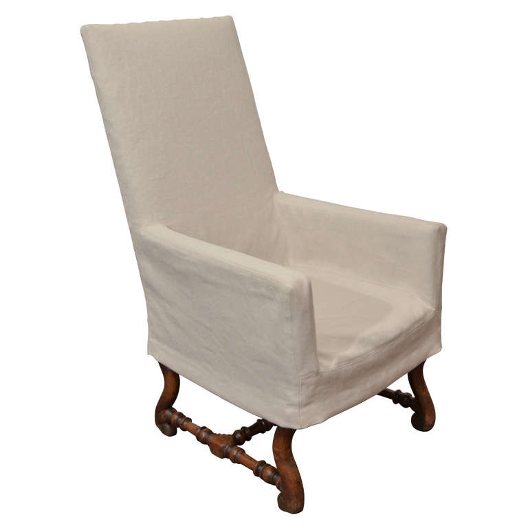 High Back Arm Chair With Slipcover