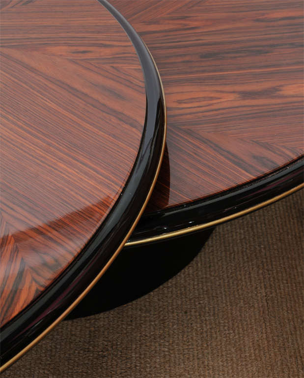 Round Coffee Table Unique: Unique Round Wood Lane's Coffee Table At 1stdibs