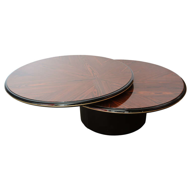 unique round wood lane 39 s coffee table at 1stdibs