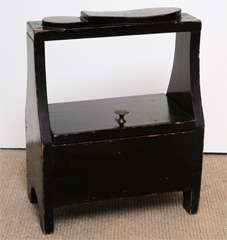 Antique black shoe-shine box image 2
