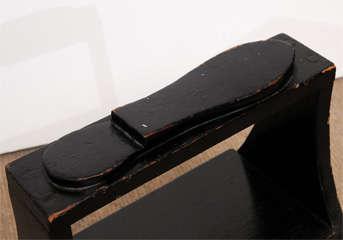 Antique black shoe-shine box image 6