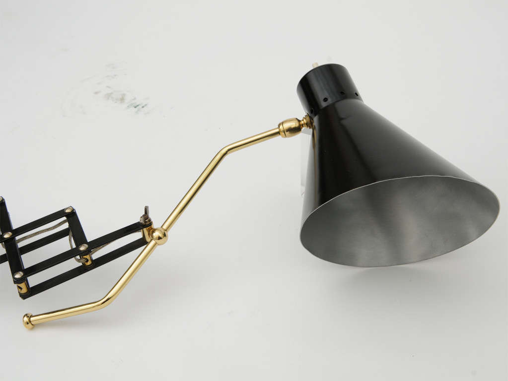 Scissor Style Extendable Wall Light For Sale at 1stdibs