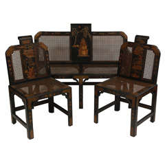 Chinoiserie Drawing Room / Parlor Set