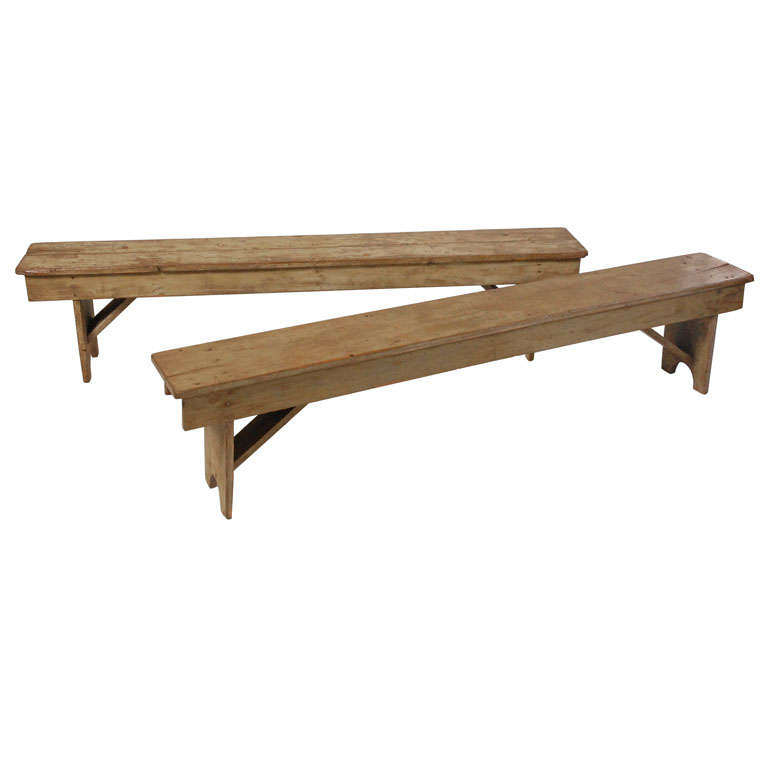 Antique Pine Country Benches At 1stdibs