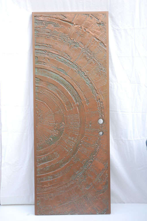 Bronze Patina Door In The Manner Of Forms And Surfaces For