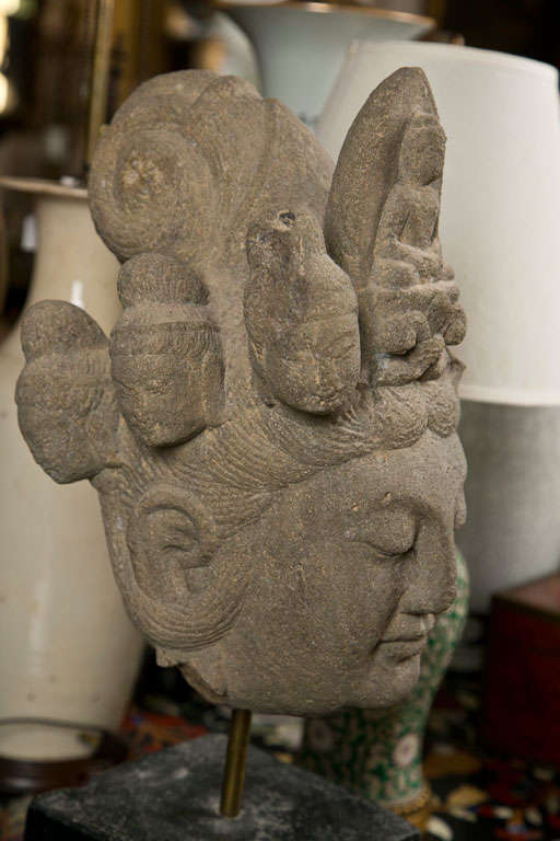 Carved stone head of kwan yin at stdibs