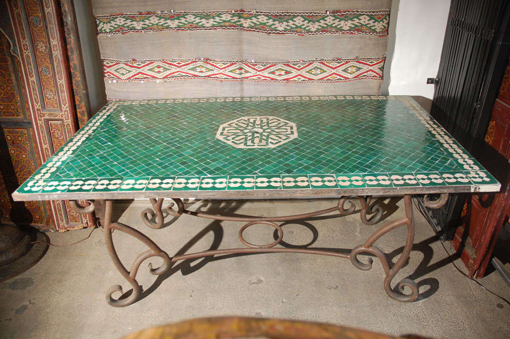 Moroccan Vintage Mosaic Green Tile Dining Table at 1stdibs : DSC0839 from 1stdibs.com size 1024 x 681 jpeg 135kB