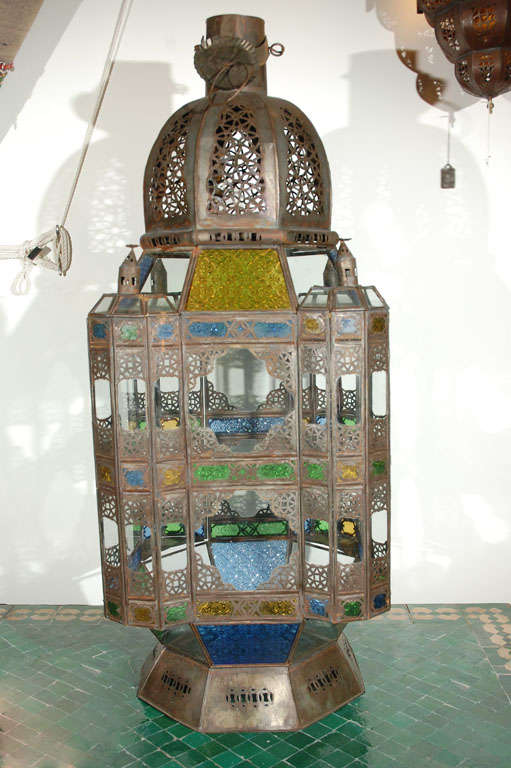 Moroccan Vintage Glass Lantern from Marrakech 2