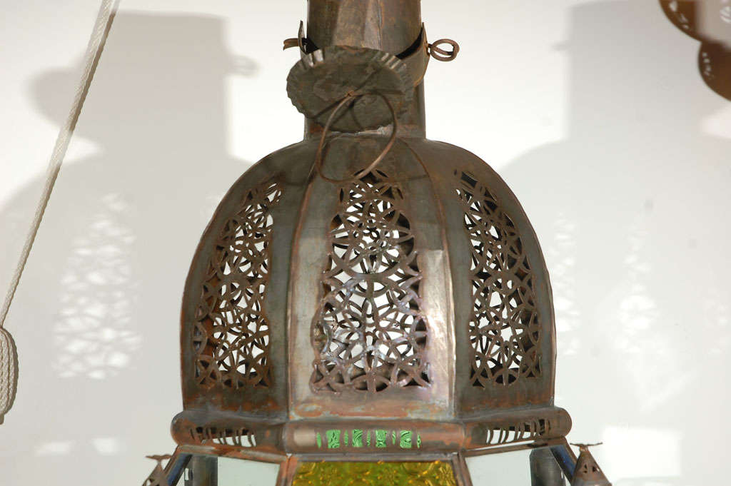 Moroccan Vintage Glass Lantern from Marrakech 3