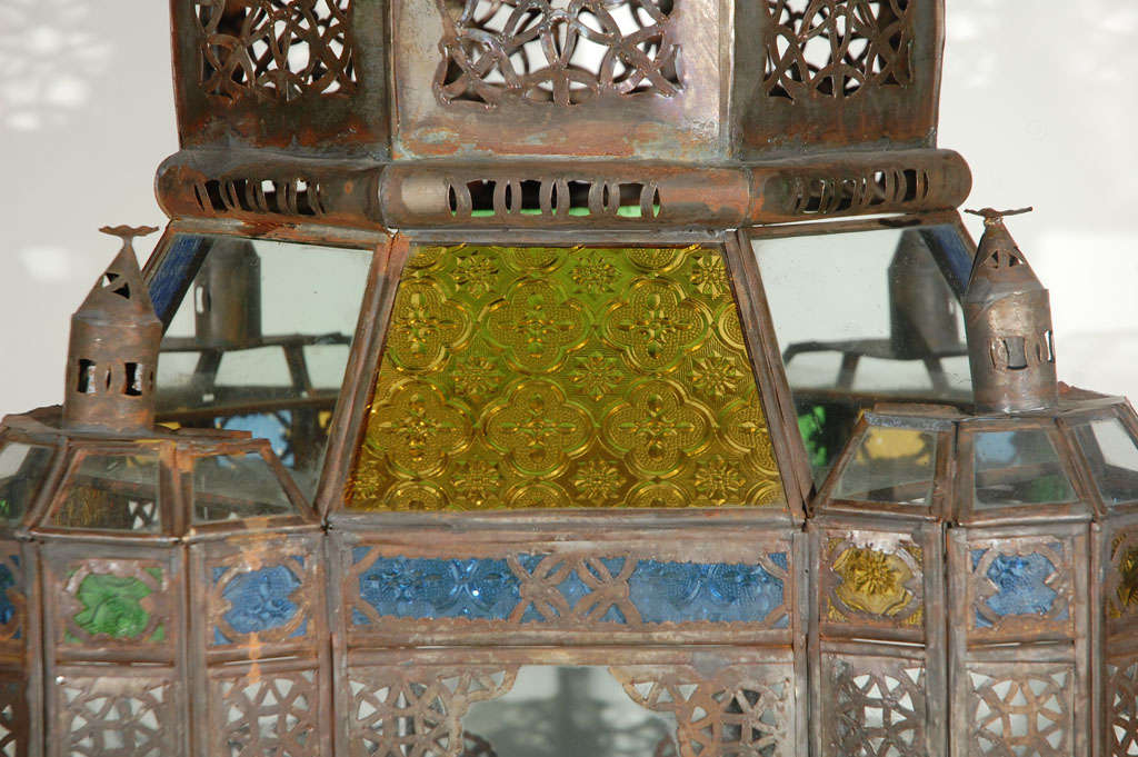 Moroccan Vintage Glass Lantern from Marrakech 4